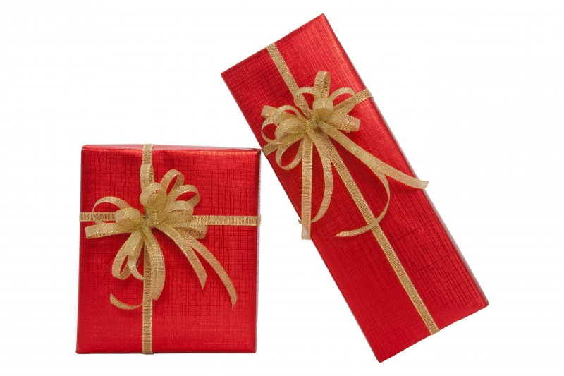 2651199-red-gift-box-over-white-background
